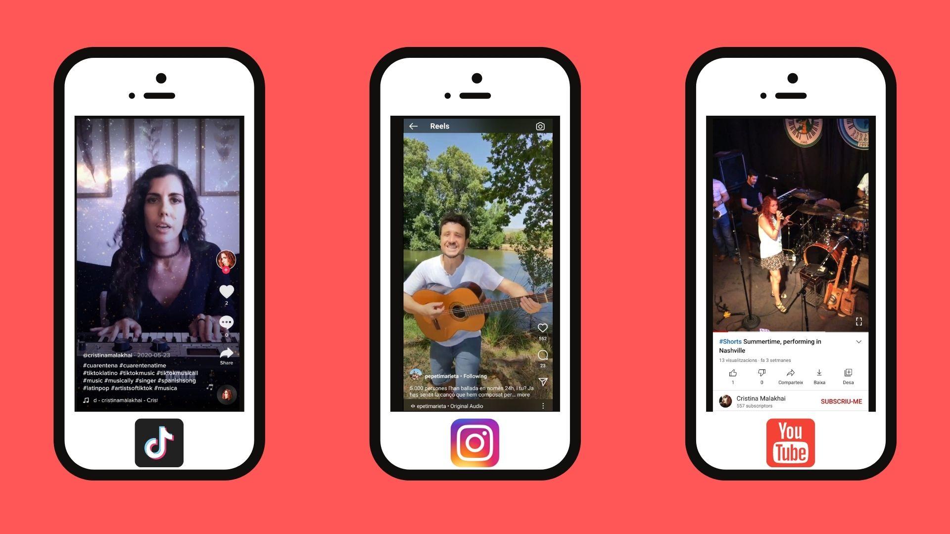 TikTok, Instagram Reels y YouTube Shorts: la importancia del vídeo corto y vertical