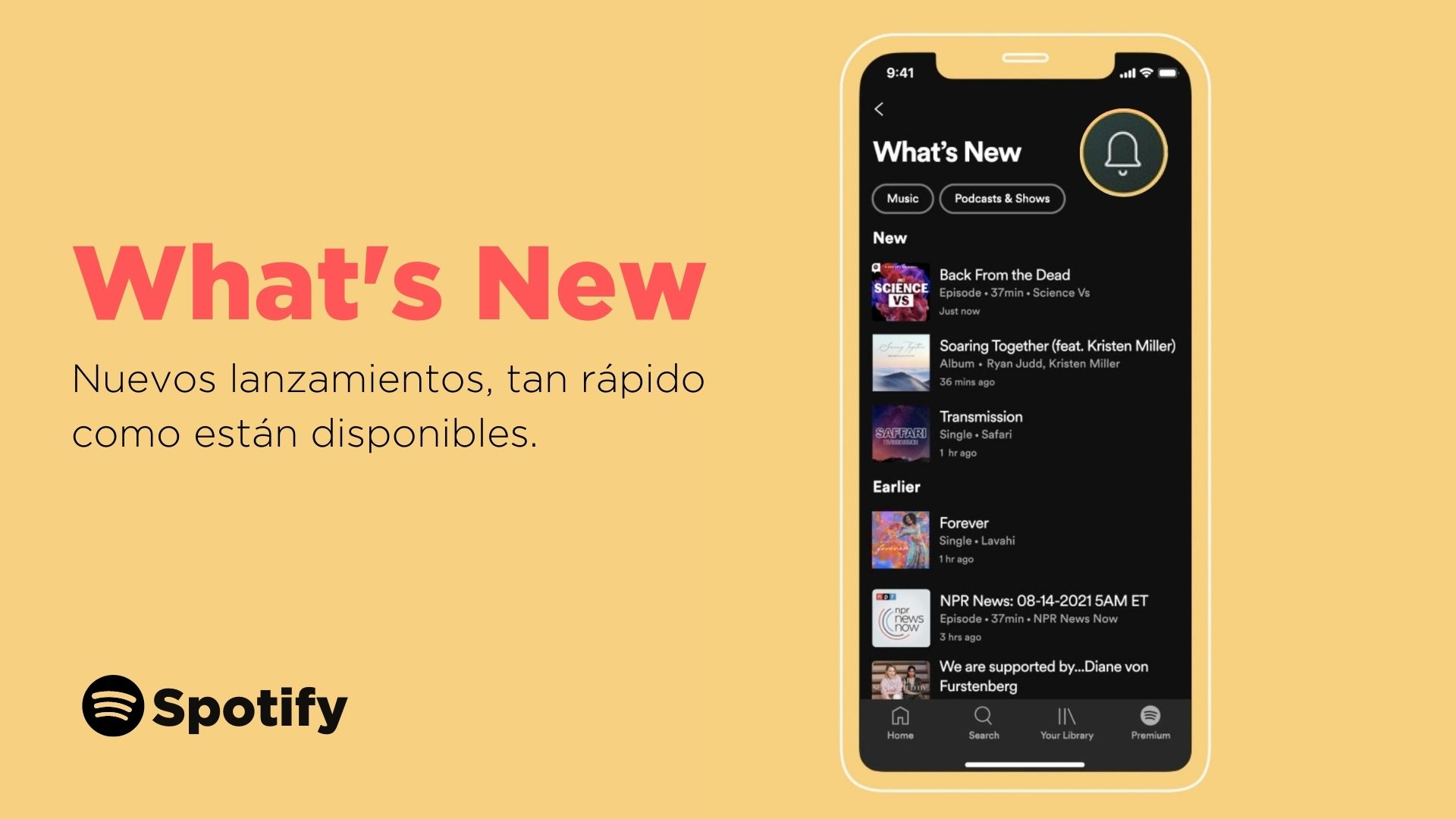 """""""What's New"""", el nuevo feed de Spotify"""